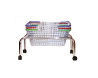 Basket Tubular Plinth with castors