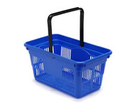 Plastic Shopping Baskets 22 Litre Capacity